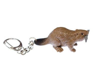 Biber Schlüsselanhänger Miniblings Anhänger Säugetier Nagetier Kanada braun – Bild 2