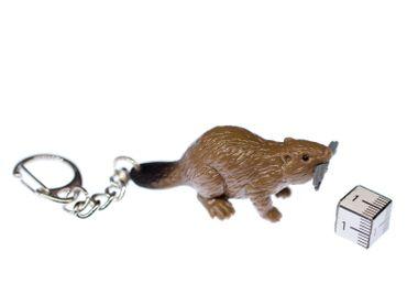 Biber Schlüsselanhänger Miniblings Anhänger Säugetier Nagetier Kanada braun – Bild 3