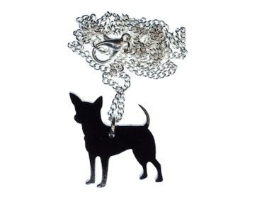 Chihuahua Necklace Miniblings 45cm Dog animal pet dogs Lasercut – Bild 1