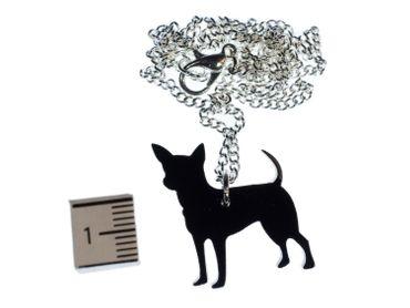 Chihuahua Kette Halskette Miniblings 45cm Hund Rassehund klein Tier Lasercut – Bild 2