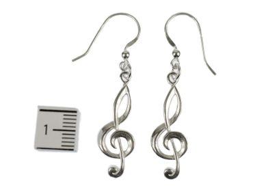 Violinschlüssel Ohrringe Notenschlüssel Musik Miniblings Klavier 925 Silber Echtsilber – Bild 2