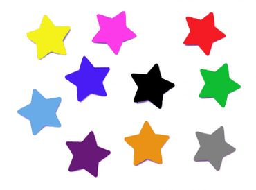 10X Patch Hotfix Iron On Motif Iron-Star Miniblings 25mm Velvety Flock Stars All Colors – Bild 1