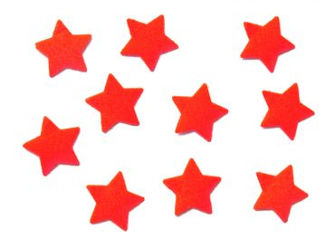 10X Patch Hotfix Iron On Motif Iron-Star Miniblings 25mm Velvety Flock Stars All Colors – Bild 12