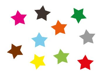 10X Patch Hotfix Iron On Motif Iron-Star Miniblings 25mm Velvety Flock Stars All Colors – Bild 8