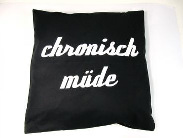 Decorative Cushion Pillow Chronic Tired Chronisch Müde Germany Pillowcase 40X40cm Miniblings – Bild 3
