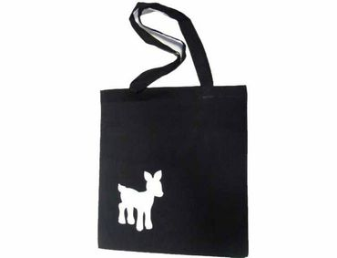 Cotton Carrier Bag Jute Bag Shopper Miniblings Deer Bambi Deer Different. Colors – Bild 1
