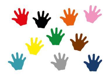 10x Bügelbild Bügelbilder Aufnäher Patch Miniblings 26mm GLATT Hand Mensch Hände – Bild 19