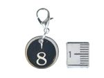 Request Number Charm Miniblings Number 0 - 9 Typewriter Keys Wood Lc