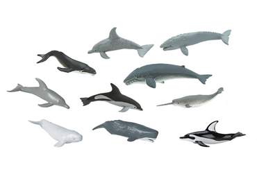 9X Set Whales And Dolphins Animal Figure Figures Figurines Miniblings Toy Figures Figurines Whale Dolphin – Bild 1