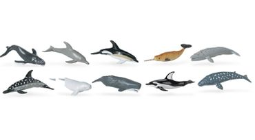 9X Set Whales And Dolphins Animal Figure Figures Figurines Miniblings Toy Figures Figurines Whale Dolphin – Bild 3