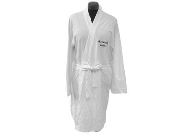 Bathrobe Print Robe Coat Sauna Sauna Chronic Tired White Size S Chronisch Müde German Germany – Bild 2
