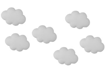 6X Cloud Button Miniblings Buttons Clouds Sky Clouds Air Umschalter Kit DIY – Bild 1