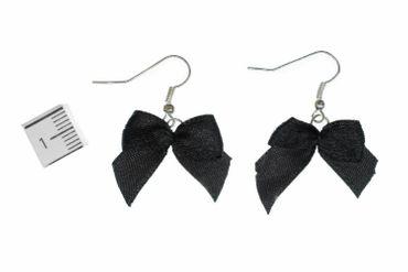 Loop Earrings Miniblings Bow Black Fabric Vintage Gothic Sweet – Bild 2