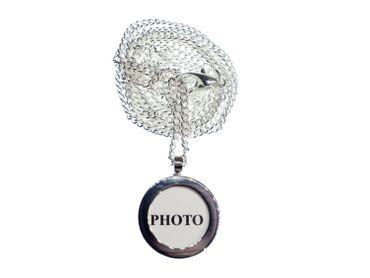 Foto Kette Halskette Miniblings 80cm DEIN EIGENES FOTO DIY Bild Basteln silber – Bild 4