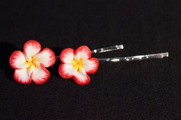 Flower Set Of 2 Hair Clip Hair Pin Clips Pins Miniblings Romance Flowers Bloom Summer – Bild 3