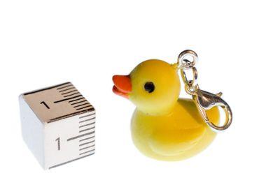 Duck Rubber Ducks Charm Zipper Pull Pendant Miniblings bird animal Bath Duckie – Bild 2
