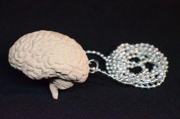 Brain Necklace Miniblings 80cm Anatomy Medicine Organ Iq Brain Zombie XL – Bild 3