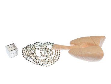 Lunge Kette Halskette Miniblings 80cm Anatomie Medizin Organ Innereien Atmung XL – Bild 2