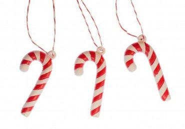 3 Stück Zuckerstange Weihnachtsbaumanhänger Xmas Christbaumschmuck Weihnachten – Bild 2