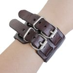 Lederarmband Herrenarmband Miniblings dunkelbraun Leder Armband braun doppelt