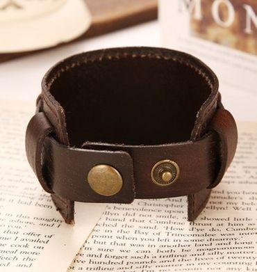 Lederarmband schwarz Miniblings Herrenarmband Leder Kreuz Armband gekreuzt Rock – Bild 5