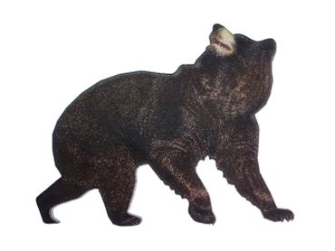 Bear Black Bear Printed Wood Laser Cut Brooch Pin Miniblings Wooden Animal Wildlife – Bild 4