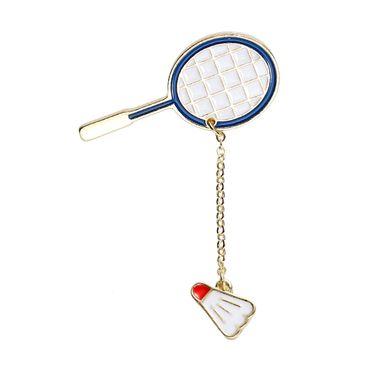Badminton Rackets Enamelled Brooch Miniblings Ball Sports BaDMinton – Bild 1