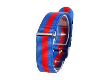 Watchband Wristwatch For Men Women Watch Bracelet Wristlet Miniblings Textile Universal Red Blue 20mm – Bild 2