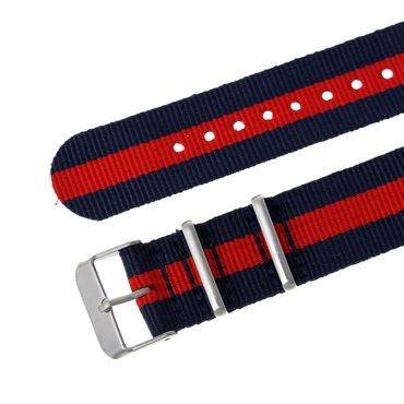 for Men Women Watch Women Men Miniblings Textile Red Dark Blue Silver – Bild 8