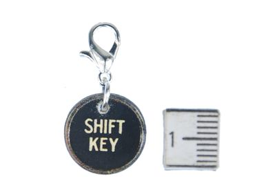 Shift Key Charm Miniblings Typewriter Keys Wood Character Shift – Bild 1