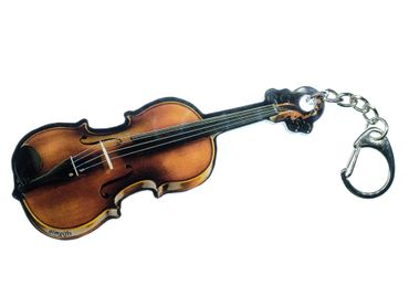 Violin Key Ring Pendant Key Ring Miniblings Music With Mirror – Bild 1
