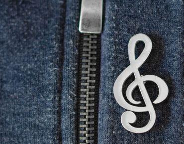 Brosche Violinschlüssel Miniblings Pin Anstecker Notenschlüssel Musik Edelstahl – Bild 3