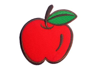 Apple Hotfix Patch Patch Patch Miniblings Fruit Orchard 9x9cm Red – Bild 3