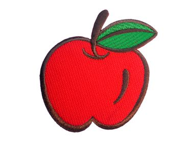 Apple Hotfix Patch Patch Patch Miniblings Fruit Orchard 9x9cm Red – Bild 1