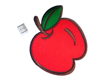 Apple Hotfix Patch Patch Patch Miniblings Fruit Orchard 9x9cm Red – Bild 2