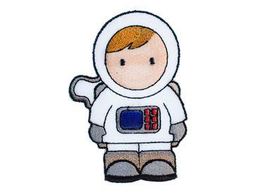 Astronaut Bügelbild Aufnäher Aufbügler Miniblings 5x8cm Comic Weltall Raumfahrt – Bild 1