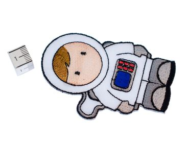 Astronaut Bügelbild Aufnäher Aufbügler Miniblings 5x8cm Comic Weltall Raumfahrt – Bild 2