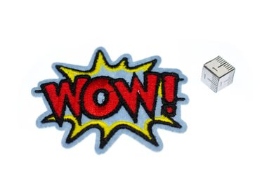 Wow! Comic Speech Bubble Hotfix Patch Patch Miniblings 8x10cm Pop Art – Bild 2