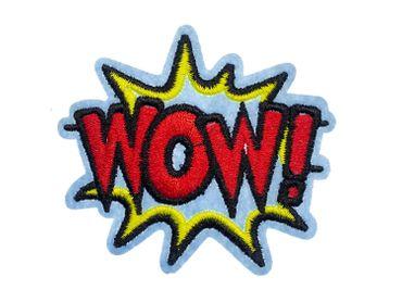 WOW! Comic Sprechblase Bügelbild Aufnäher Aufbügler Miniblings 8x10cm Pop-Art – Bild 1