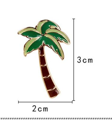 Palm Pin Miniblings Metal Brooch Vacations Caribbean Summer Tropical South Tree – Bild 1