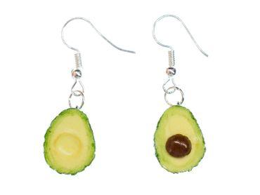 Avocado Ohrringe Miniblings Früchte Frucht Sommer Party Guakamole 3D – Bild 1