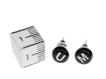 Your Own Letters Earrings Ear Studs Stud Earstuds Miniblings Letter Inital Abc Initials K + Black? – Bild 3