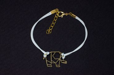 Elephant Bracelet Wristlet Dangle Pendant Miniblings Gold Turqoise India – Bild 2