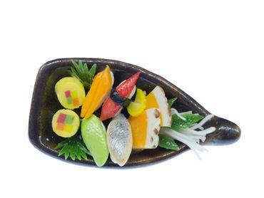 Sushi Schiff Brosche Miniblings Japanische Spezialität Japan Kawaii Essen Asien – Bild 1