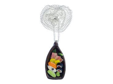 Sushi Boat NecklaceNecklace Miniblings Japanese Specialty Japan Cawaii Fish – Bild 1