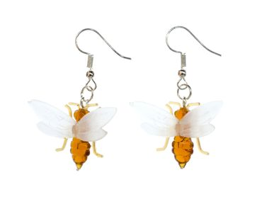 Flying Ant Earrings Bee Honey Miniblings Insect Wings Animal Nature Ants Fly – Bild 1