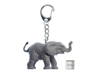 Elephant Baby Key Chain Miniblings Key Chain Ring Zoo Pachyderm Rubber Africa – Bild 2