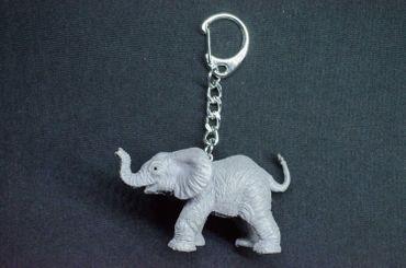 Elephant Baby Key Chain Miniblings Key Chain Ring Zoo Pachyderm Rubber Africa – Bild 3