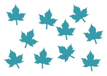 10X Patch Maple Leaf Hotfix Iron On Miniblings 26mm Velvety Tree Trees Maple Leaves Nature – Bild 12