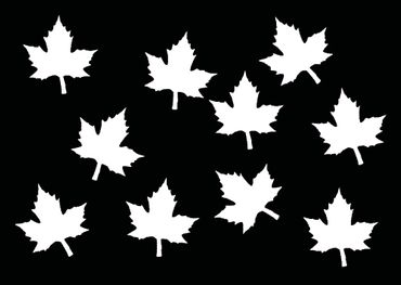 10X Patch Maple Leaf Hotfix Iron On Miniblings 26mm Velvety Tree Trees Maple Leaves Nature – Bild 13
